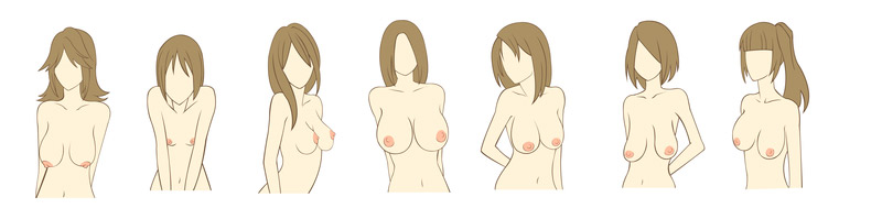 distintos tipos de pechos