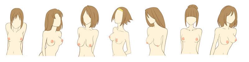 diferentes tipos de pechos y senos